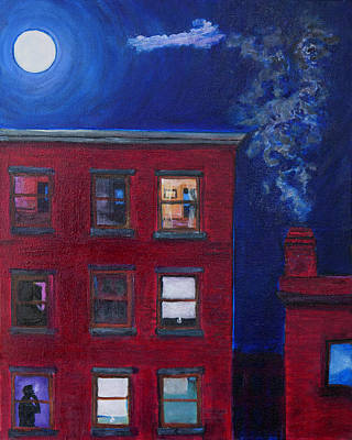 Nightscapes Painting - Spaces by Edward Cardini