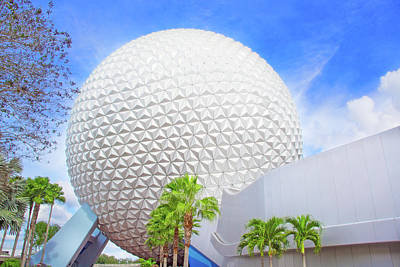 Photograph - Spaceship Earth At Epcot by Mark Andrew Thomas