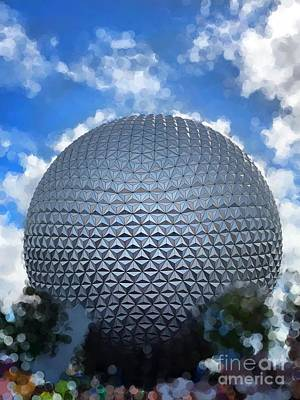 Photograph - Spaceship Earth At Epcot by Paul Wilford
