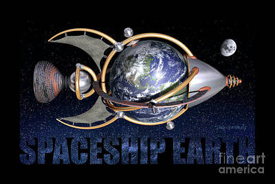 Digital Art - Spaceship Earth by Dave Ginsberg