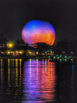 Disney Photograph - Spaceship Earth Reflection by Stuart Rosenthal