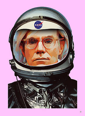 Digital Art - Spacesuit Warhol by Gary Grayson