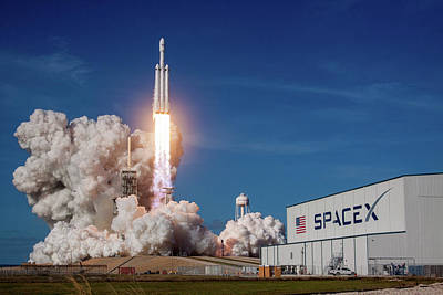 Photograph - Spacex Falcon Heavy Rocket Launch Maiden Flight by SpaceX