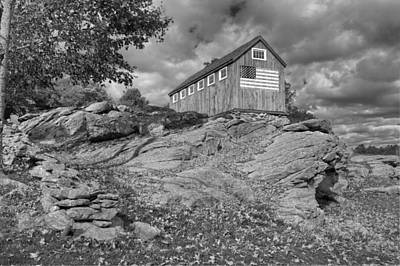 Farmland Photograph - Spacious Skies Bw by Bill Wakeley
