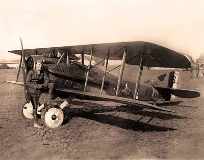 Photograph - French Spad Xiii 1918 by US Signal Corp