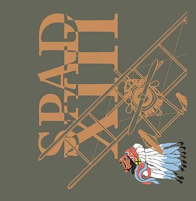 Digital Art - Spad Xiii Lafayette Escadrille by Ewan Tallentire