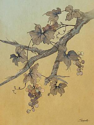 Digital Art - Spade's Grapevine by IM Spadecaller