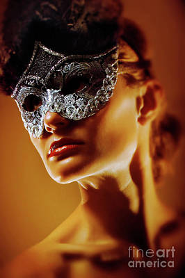Photograph - Spades Lady II Venetian Eye Mask by Dimitar Hristov
