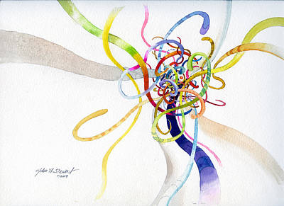 Painting - Spaghetti Abstract by John Norman Stewart