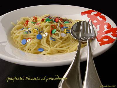 Absurdity Photograph - Spaghetti Picante by Dirk Laureyssens