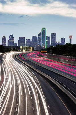 Photograph - Spaghetti Skyline - Dallas Texas by Gregory Ballos