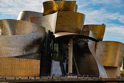 Photograph - The Guggenheim Museum Spain Bilbao  by Andy Myatt