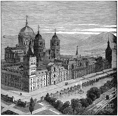 Drawing - Spain, El Escorial, C1894 - To License For Professional Use Visit Granger.com by Granger