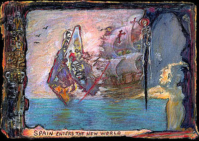 Mixed Media - Spain Enters The New World by Ed Meredith