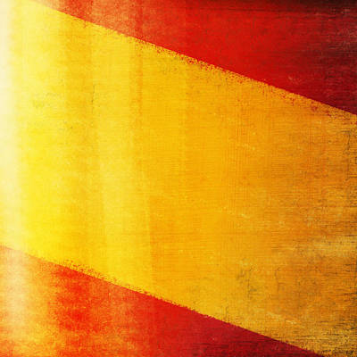Postcard Photograph - Spain Flag by Setsiri Silapasuwanchai