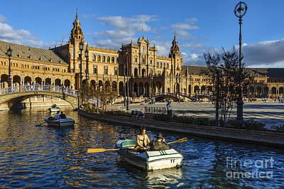 Photograph - Spain Square Seville Spain by Pablo Avanzini