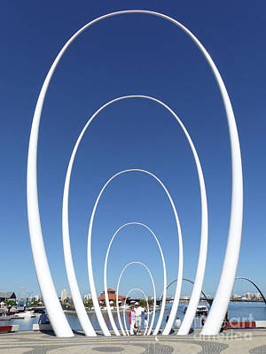Photograph - Spanda Sculpture - Elizabeth Quay - Perth by Phil Banks