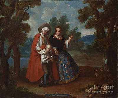 Spaniards Painting - Spaniard And Morsica by Celestial Images