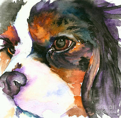 Art Print featuring the painting Spaniel by Christy Freeman