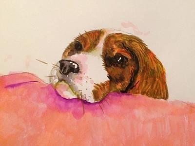 Jenna Thomas Wall Art - Painting - Spaniel Pup by Jennifer Thomas