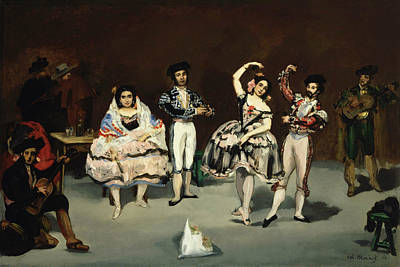 Spanish Dancer Painting - Spanish Ballet by Edouard Manet