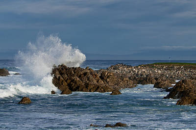 Photograph - Spanish Bay Golf Ocean Wave by Connie Cooper-Edwards