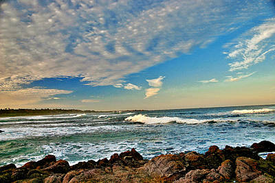 Print featuring the painting Spanish Bay Sunrise by Larry Darnell