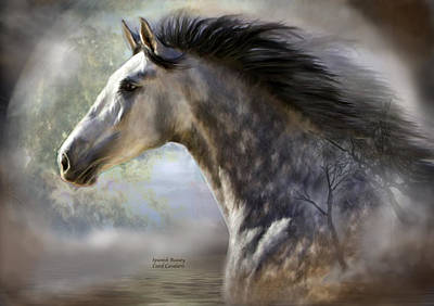 Horse Art Mixed Media - Spanish Beauty by Carol Cavalaris