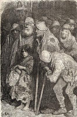 Spanish Beggars From Burgos, Spain In Art Print by Vintage Design Pics
