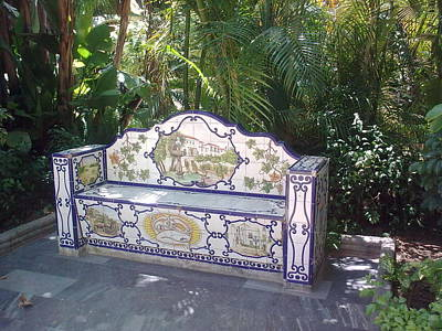 Photograph - Spanish Bench by Valerie Ornstein