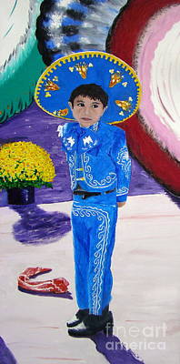 Painting - Spanish Boy 1 Of 2 by Lisa Rose Musselwhite