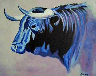 Painting - Spanish Bull by Manuel Sanchez