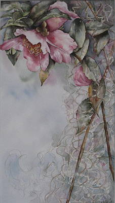 Painting - Spanish Camellias by Mary McCullah