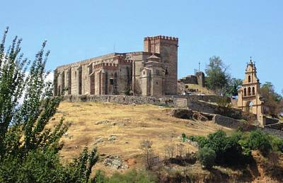 Photograph - Spanish Castle On The To Seville Spain by John Shiron