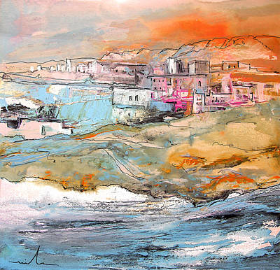 Painting - Spanish Coast Town by Miki De Goodaboom