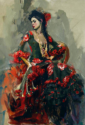Senorita Painting - Spanish Culture 16 by Corporate Art Task Force