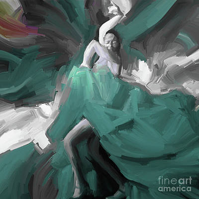 Art Print featuring the painting Spanish Dance Art 56yt by Gull G