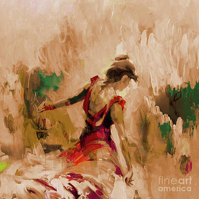Flamenco Painting - Spanish Dance Culture  by Gull G