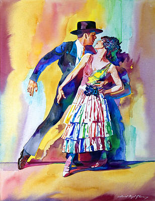 Flamenco Painting - Spanish Dance by David Lloyd Glover