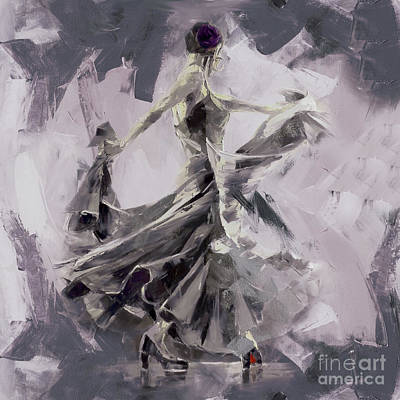 Ballet Painting - Spanish Dance Painting 03 by Gull G