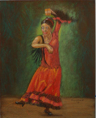 Painting - Spanish Dancer 2 by Quwatha Valentine