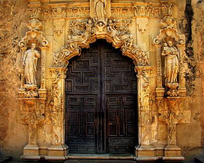 Spanish Doorway Art Print by Perry Webster
