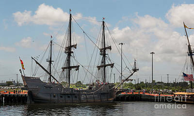 Photograph - Spanish El Galeon Tall Ship Docked In Charleston South Carolina by Dale Powell
