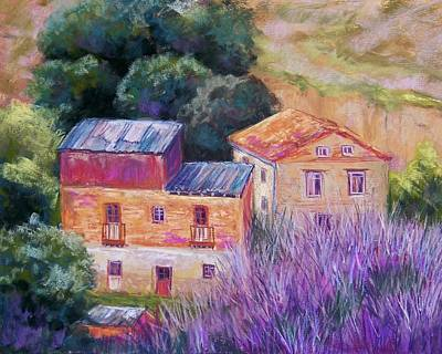 Spanish Farmhouses Print by Candy Mayer