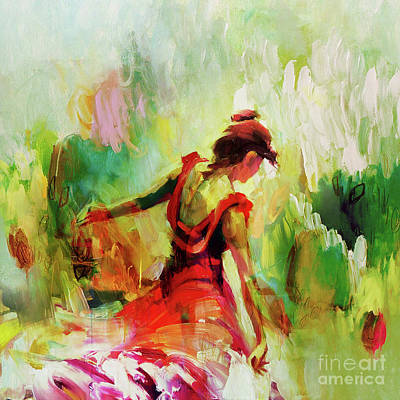 Ballet Painting - Spanish Female Art 56y by Gull G