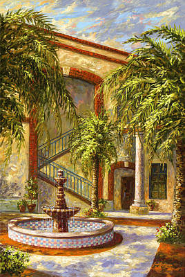 Painting - Spanish Fountain by Jose Rodriguez