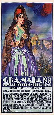 Painting - Spanish Granada - Poster by Roberto Prusso