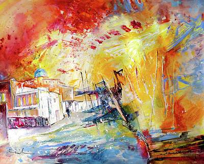 Painting - Spanish Harbour 09 by Miki De Goodaboom