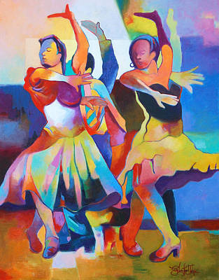 Painting - Spanish Harlem Dance by Glenford John