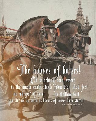 Spanish Horses Quote Art Print by JAMART Photography